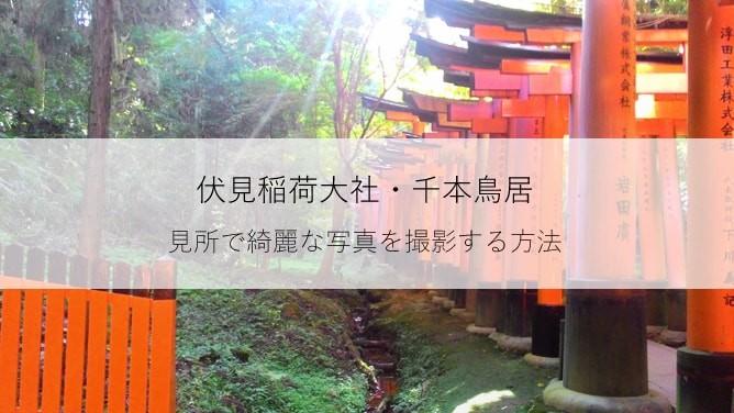 伏見稲荷大社・千本鳥居の見所で綺麗な写真を撮影する方法