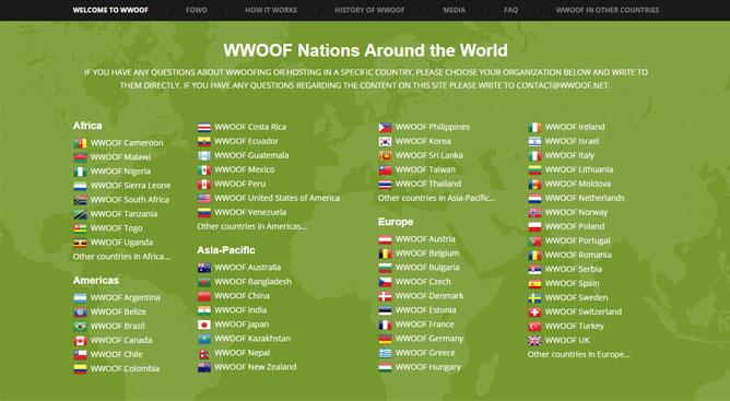 WWOOF で長期滞在できる国は世界中に存在する