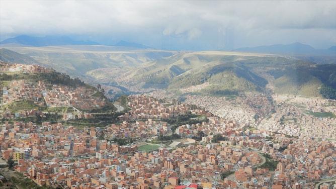 ボリビアの事実上の首都「ラパス」の街並み