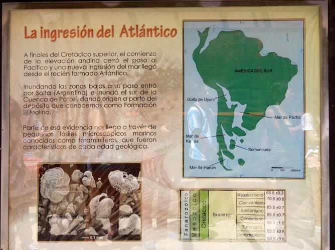 南米大陸の地殻変動の歴史が学べる