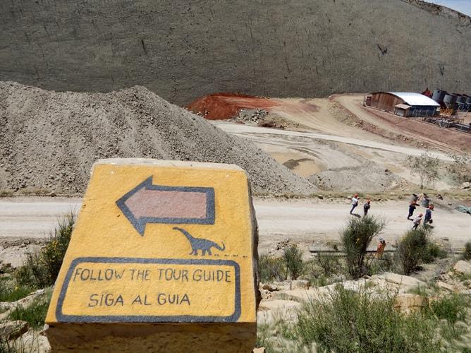 恐竜の足跡を見に行くツアーでの道案内