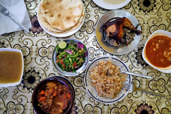 ダハブでおすすめのローカルレストラン El Sharkawy のエジプト料理