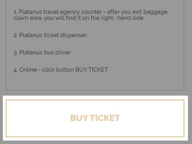 ドブロブニク空港シャトルバスのチケットはオンラインで購入可能