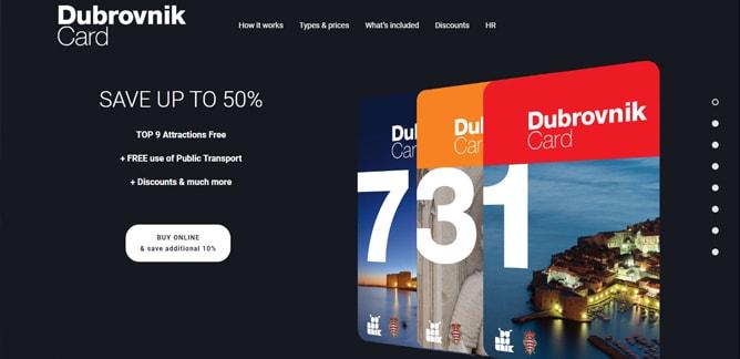 ドゥブロヴニクカードの公式サイト