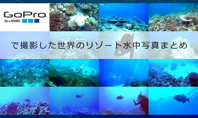 ゴープロ(GoPro)カメラで撮影した世界のリゾート水中写真まとめ