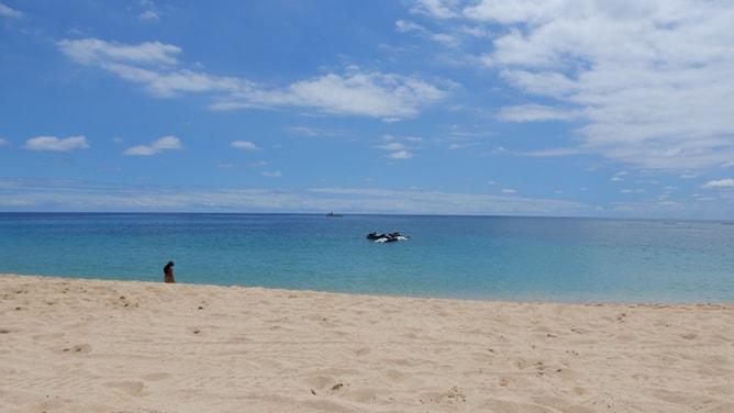 とても静かなマカハビーチ