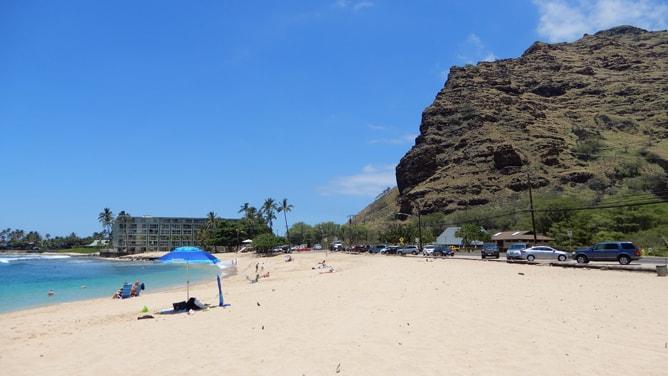 マカハビーチの景観