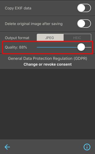 iPhone で JPGE 写真を一括圧縮