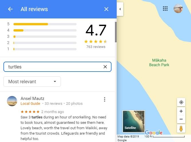マカハビーチでのシュノーケリングの評価