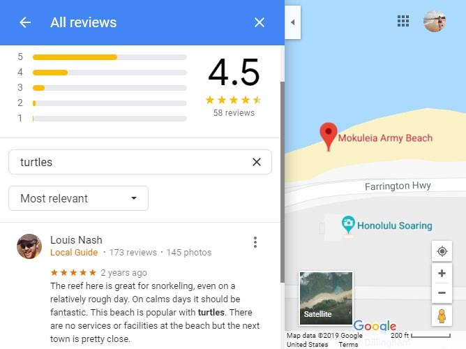モクレイアアーミービーチでのシュノーケリングの評価
