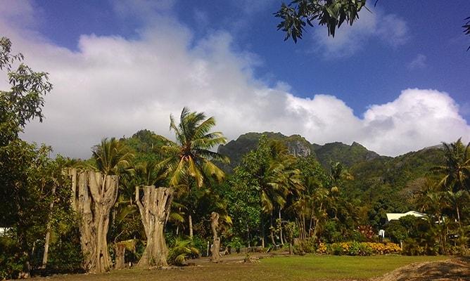 クック諸島ラロトンガ島の山側の景色(テ・マンガ山)その2