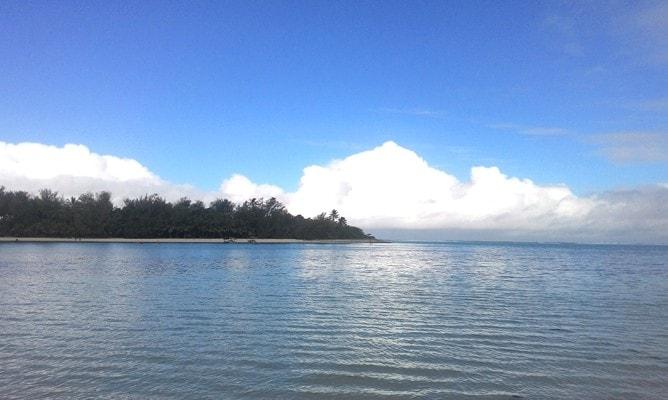 ムリラグーンのビーチから見る景色